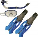 speedo-glide-mask.-snorkel.-fin-set-grey-blue